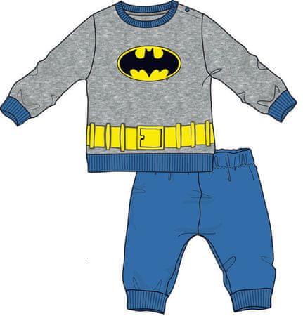 Disney by Arnetta chlapecké pyžamo Batman 80 šedá