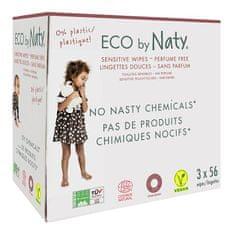 NATY ECO wilgotne chusteczki bezzapachowe - do skóry wrażliwej (3x 56 szt.)
