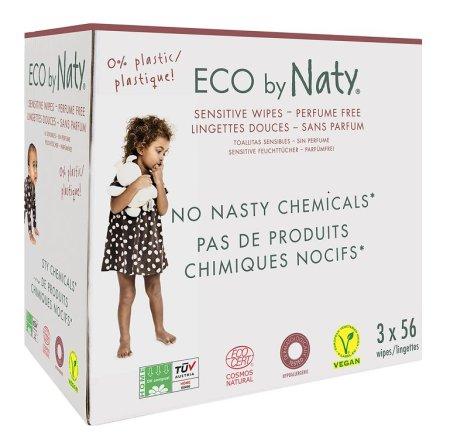 NATY Eco vlažne maramice bez mirisa, za osjetljivu kožu, 3x 6 komada