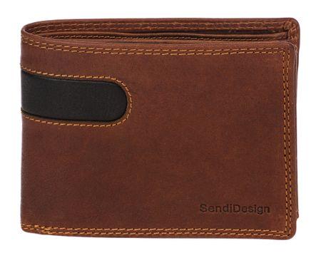 Sendi Design pánská peněženka 666 COW hnědá