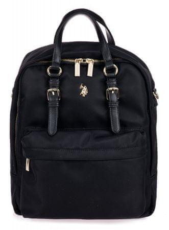 U.S. Polo Assn. Houston Vertical Backpack ženski nahrbtnik, črn