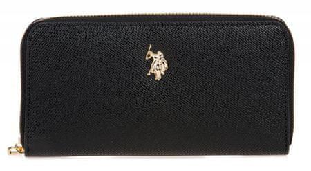 U.S. Polo Assn. Crestwood Large Zip Around Wallet ženski novčanik, crni