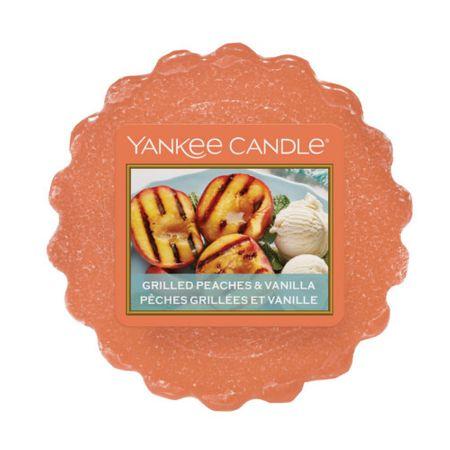 Yankee Candle Illatos viasz aromalámpábaGrilezett őszibarack és vanília (Grilled Peaches & Vanilla) 22 g