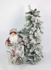 DUE ESSE Świecące choinkowe drzewo z Mikołajem 56 x 35 cm