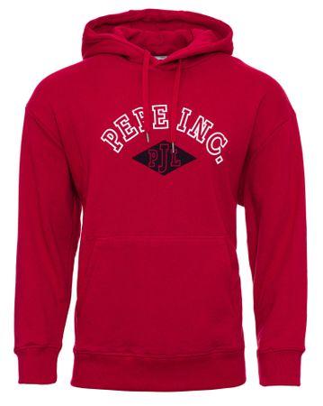 Pepe Jeans moški pulover Lionel, L, rdeč