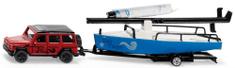 SIKU Super - Mercedes z holowaniem i łodzią