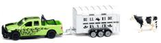 SIKU Farmer - RAM 1500 s prívesom na prepravu kráv