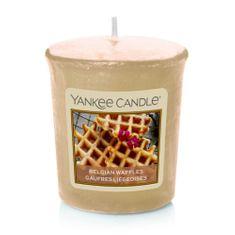 Yankee Candle Aromatická votívna sviečka Belgické vafle (Belgian Waffles) 49 g