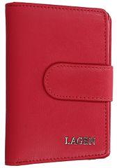 Lagen Dámska kožená peňaženka 50313 Red