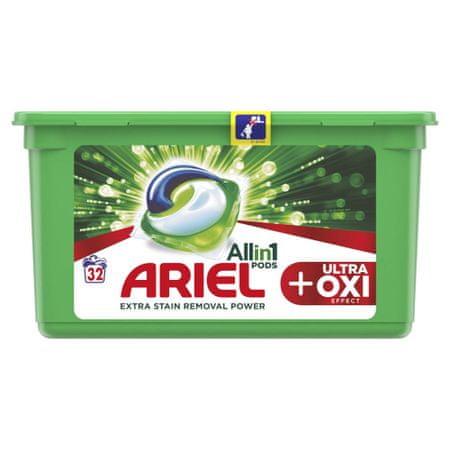 Ariel gel kapsule Ultra OXI All in 1, 32 kosov