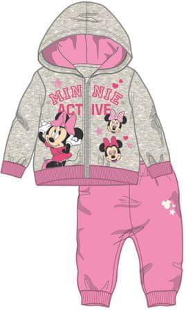 Disney by Arnetta dívčí tepláková souprava Minnie 92 sivá
