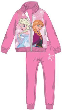 Disney by Arnetta dívčí tepláková souprava Frozen 122 ružová