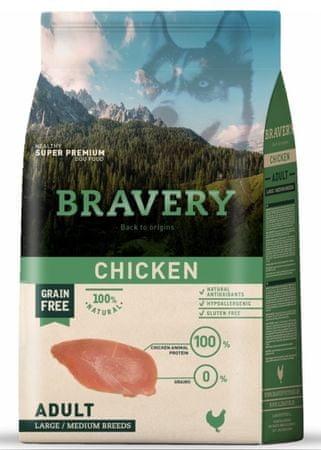 Bravery Dog ADULT Large / Medium Grain Free chicken 12 kg