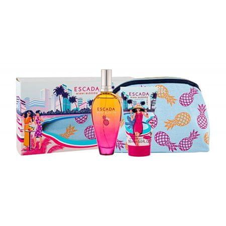 Escada Miami Blossom - EDT 100 ml + tělové mléko 150 ml + kosmetická taštička