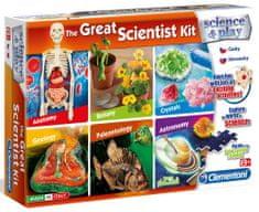 Clementoni duży zestaw eksperymentów naukowych 6w1