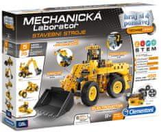 Clementoni warsztat mechaniczny - Maszyny budowlane, 5 dużych modeli, 450 elementów
