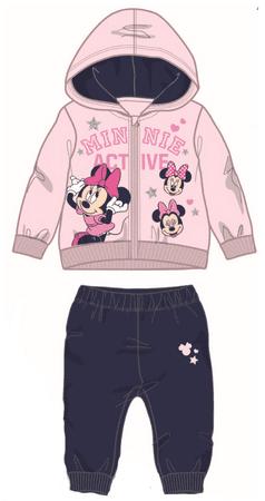 Disney by Arnetta dívčí tepláková souprava Minnie 80 ružová