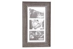 Sifcon Nástěnný fotorámeček na 3ks fota, 42,2 × 26,8 × 2,3 cm