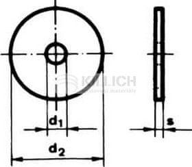 Killich podložka 10.5x30x1.5 ZINEK karosářská DIN 522