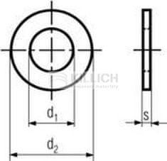 Killich podložka M33 pr. 34x60x5 140HV ZINEK plochá DIN 125A