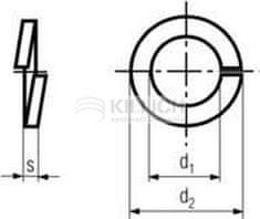 Killich podložka M10 pr. 10.2x18.1x2.2 BEZ PÚ pérová obdelníková DIN 127B