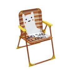Cdiscount skládací židle s područkami s motivem lamy