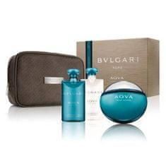 Bvlgari Aqva Pour Homme - EDT 100 ml + balzám po holení 75 ml + sprchový gel 75 ml + kosmetická taška