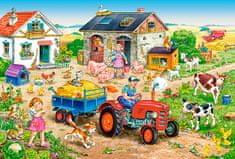 Castorland Deň na farme 40 dielikov