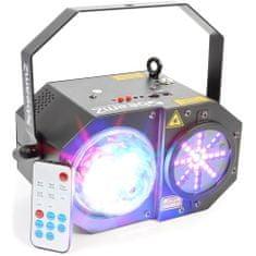BeamZ  LED Medusa s laserem, 4x 3W RGBW+32x SMD LED, 200mW RG