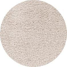 Ayyildiz AKCE: 120x120 cm Kusový koberec Dream Shaggy 4000 Cream kruh