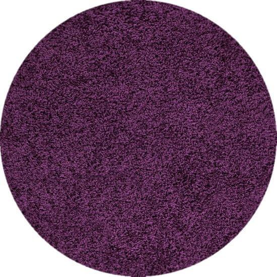 Ayyildiz Kusový koberec Dream Shaggy 4000 Lila kruh 120x120 (průměr) kruh