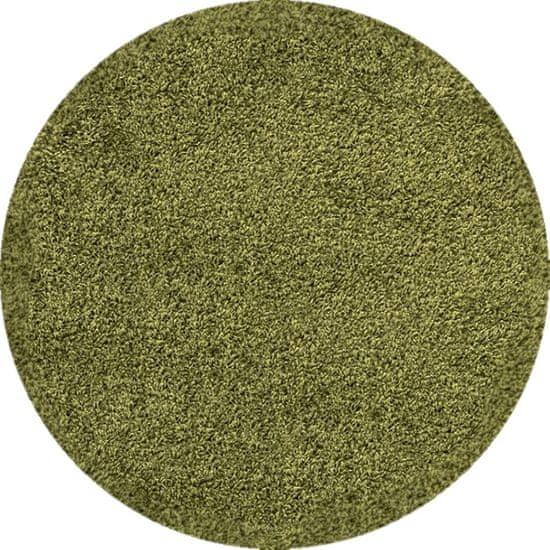 Ayyildiz Kusový koberec Dream Shaggy 4000 Green kruh 120x120 (průměr) kruh