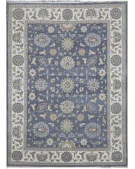 Diamond Carpets Ručne vázaný kusový koberec Diamond DC-ZIGLER Jeans blue/ivory