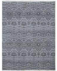 Diamond Carpets Ručně vázaný kusový koberec Diamond DC-EKT L silver/black