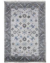 Diamond Carpets Ručně vázaný kusový koberec Diamond DC-USHAK silver/black