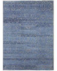 Diamond Carpets Ručně vázaný kusový koberec Diamond DC-EKT 6 Silver/light blue