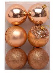 Seizis Set 6 gulí lososových s dekorom, 8 cm