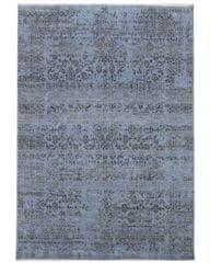 Diamond Carpets Ručně vázaný kusový koberec Diamond DC-JK 1 Jeans blue/black