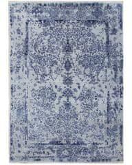 Diamond Carpets Ručně vázaný kusový koberec Diamond DC-JK ROUND Silver/peacock blue