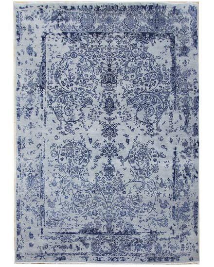Diamond Carpets Ručně vázaný kusový koberec Diamond DC-JK ROUND Silver/peacock blue 180x275