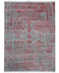Diamond Carpets Ručně vázaný kusový koberec Diamond DC-JK ROUND Silver/pink