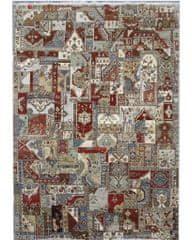 Diamond Carpets Ručne vázaný kusový koberec Diamond DC-PATCH RED MULTI
