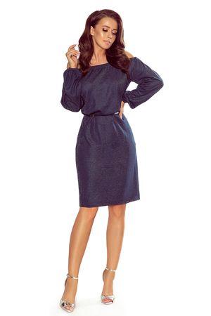 Numoco Női ruha 270-1, sötét kék, S