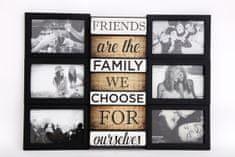 Sifcon Nástěnný fotorámeček FRIENDS, 50 × 37 × 3 cm, plast, černý