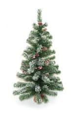 DUE ESSE Dekoracija božičnega zasneženega drevesa v juti, jagodičevju in stožcih,90 cm