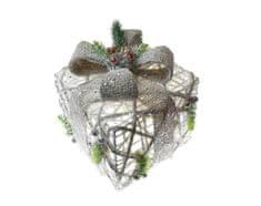 Seizis Box darčekový hranatý sisal - krémový, 15 cm