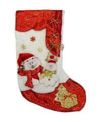 Seizis Ponožka na dárky se sněhuláky, červenobílá, 2 mix
