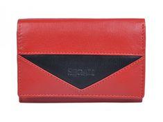 Segali Dámská kožená peněženka SEGALI 7020 červená/černá