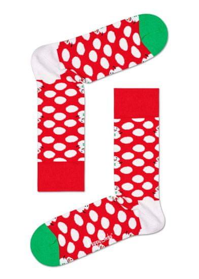Happy Socks unisex ponožky Big Dot Snowman Sock BDS01-4300 41 - 46 červená