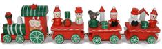 DUE ESSE dekoracja świąteczna - drewniany pociąg, 24 cm